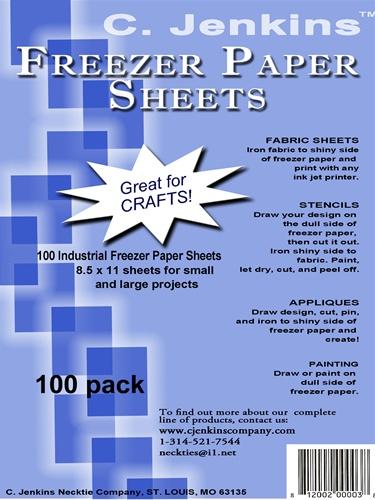 C Jenkins 8 5 X 11 Freezer Paper Sheets